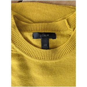 J. Crew Mustard Yellow Merino Wool Sweater